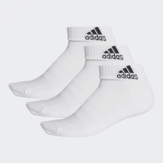 adidas Cushioned 3 Pack Of Ankle Socks White