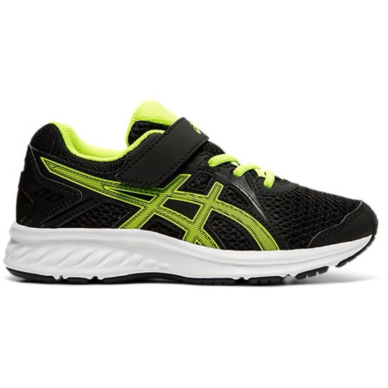 Asics Jolt 2 PS Kids Running Shoes Black / Safety Yellow