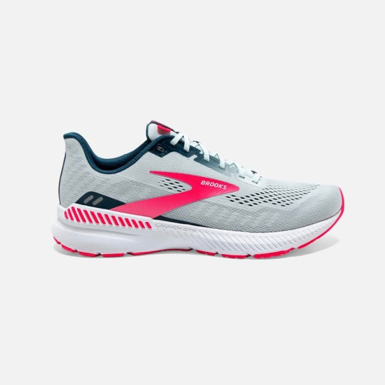 Brooks Launch GTS 8 Ice Flow / Navy / Pink