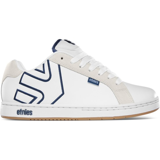 Etnies Fader Skate Shoes White / Navy / Gum