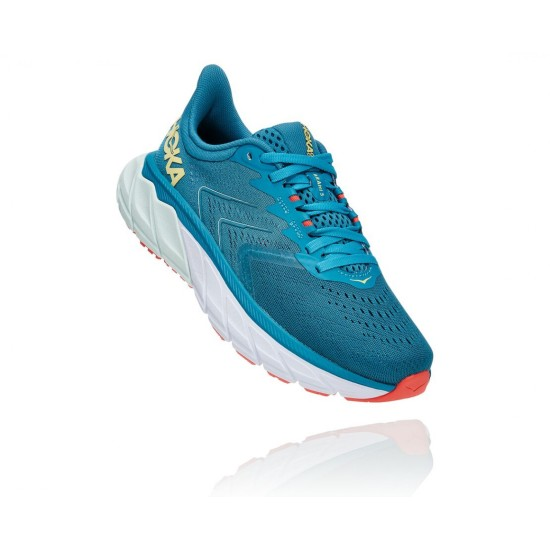 Hoka One One Arahi 5 Mosaic Blue / Luminary Green