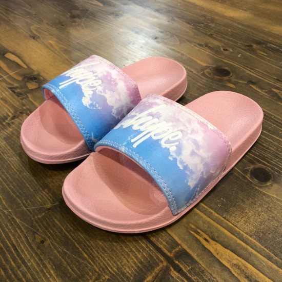 Hype Cloud Fade Kids Sliders
