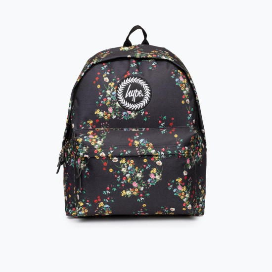 Hype Ditsy Floral Backpack Black