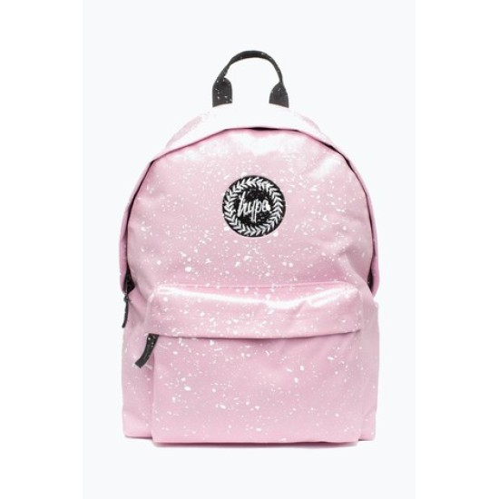 Hype Speckle Backpack Pink / White