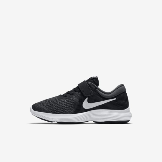 Nike Revolution 4 Youth Shoes Black / White