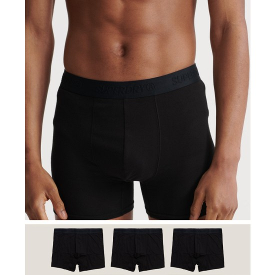 SuperDry Organic Cotton Classic Boxer Triple Pack